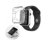 Силиконовый чехол Apple Watch 2/3 42mm Bikson Watch Case, прозрачный