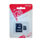 Карта памяти microSDXC 128Gb SmartBuy, Class10, с адаптером