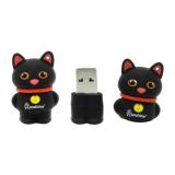 Флеш-накопитель USB  16GB  Smart Buy  Wild series  Catty  чёрный