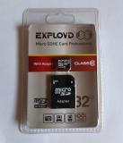 Карта памяти microSDHC 32Gb Exployd, Class10, с адаптером