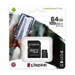 Карта памяти microSDHC 32Gb Kingston, Canvas Select Plus, Class10, UHS-I U1 A1 100Mb/s, с адаптером
