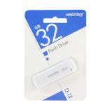 Флеш-накопитель 32Gb SmartBuy LM05, USB 2.0, пластик, белый