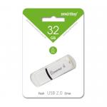 Флеш-накопитель 32Gb SmartBuy Paean, USB 2.0, пластик, белый