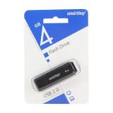 Флеш-накопитель 4Gb SmartBuy LM05, USB 2.0, пластик, чёрный
