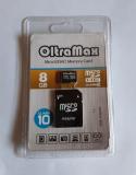 Карта памяти microSDHC 8Gb OltraMax, Class10, с адаптером