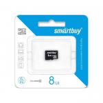 Карта памяти microSDHC 8Gb SmartBuy, Class10, без адаптера