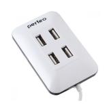 Perfeo USB-HUB 4 Port, (PF-VI-H028 White) белый