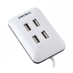 Perfeo USB-HUB 4 Port, (PF-VI-H028 White) белый