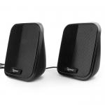 Акустическая система 2.0 Gembird SPK-100-W 6 Вт, регулятор громкости, USB-питание (черный)