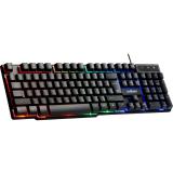 Клавиатура проводная Defender, Mayhem , GK-360DL, механическая, подсветка, USB, цвет: чёрный