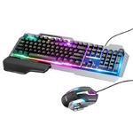 Комплект игровой HOCO GM12 проводной клавиатура+мышь с подсветкой RGB, цвет: черный