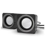 Колонки RITMIX SP-2025, черный/серый, 2.0, 5 Вт (2 х 2,5) (1/40)