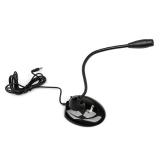 Микрофон M-120B Dialog конденсаторный, настольный, на гибком основании, с кнопкой включения, черный