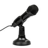 Микрофон M-150B Dialog конденсаторный, настольный, с кнопкой включения, черный.
