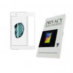 Защитное стекло 2.0D Privacy для Meizu M6 Note проклеивается на весь экран, белое