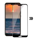 Защитное стекло 3D для Huawei Honor 9 Lite  с полной проклейкой в тех. паке 25 шт., черное