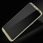Защитное стекло Samsung G950(S8)4D 100% cтеклона всю поверхность,золотое
