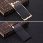 Защитное стекло для Samsung Galaxy A8 (2018) на полный экран, арт.009288 (Золотой)