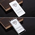 Защитное стекло Full Glue для Samsung Galaxy A8+ (2018) на полный экран, арт.010630 (Белый)