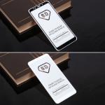 Защитное стекло Full Glue для Xiaomi Redmi 5 Plus на полный экран, арт.010630 (Белый)