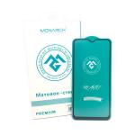 Защитное стекло Monarch Premium матовое Samsung Galaxy A10 черное