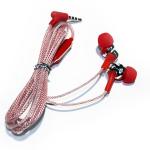 Гарнитура 3.5 EARPHONES MC-128 с микрофоном (красный)