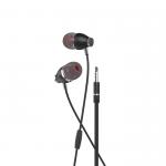 Наушники внутриканальные HOCO M28, Ariose, микрофон, кнопка ответа, кабель 1.2м, цвет: серый