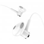 Наушники внутриканальные HOCO M47, Canorous, микрофон, кнопка ответа, кабель 1.2м, цвет: белый