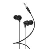 Наушники внутриканальные HOCO M60, Perfect, микрофон, кнопка ответа, кабель 1.2м, цвет: чёрный