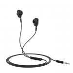 Наушники внутриканальные HOCO M62, Dazzling, микрофон, кнопка ответа, кабель 1.2м, цвет: чёрный