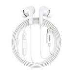 Наушники внутриканальные Remax RM-533, Earphone, микрофон, Type-C, кабель 1.2м, цвет: белый
