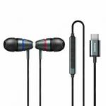 Наушники внутриканальные Remax RM-660a, Metal wired, микрофон, кнопка, кабель 1.2м, цвет: серый