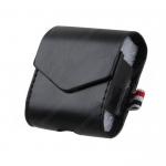 Чехол-книжка без бренда для APPLE Airpods, Cheap leather, экокожа, цвет: чёрный