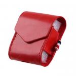 Чехол-книжка без бренда для APPLE Airpods, Cheap leather, экокожа, цвет: красный