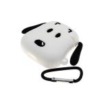 Силиконовый чехол Air Pods 1/2 твёрдый силикон с карабином, собака