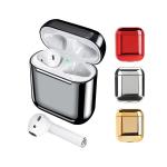 Футляр для AirPods пластиковый, цвет металлик, серебро