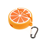 Футляр фигурный, утолщенный для Air Pods, апельсин