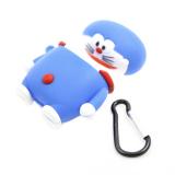 Футляр фигурный, утолщенный для Air Pods, кот синий