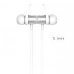 Наушники внутриканальные HOCO ES14, Plus breathing sound, bluetooth, цвет: серебряный
