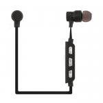 Bluetooth гарнитура inkax HP-04 вставная/магнит/металл/стерео (черная)