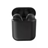 Наушники внутриканальные без бренда inPods-12, bluetooth 5.0, с анимацией, глянцевый, чёрный