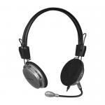 Наушники полноразмерные Defender 120, Aura, микрофон, кабель 3.0м, цвет: чёрный