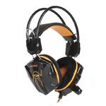 Наушники игровые Smartbuy RUSH SNAKE, динамики 40мм, велюр, черно-оранжевый (SBHG-1100)