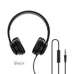 Наушники полноразмерные Borofone BO5, Star sound, микрофон, кабель 1.2м, цвет: чёрный