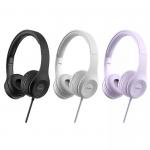 Наушники полноразмерные HOCO W21, Graceful, микрофон, кнопка ответа, кабель 1.2м, фиолетовый