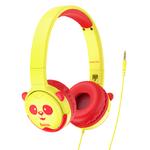 Наушники полноразмерные HOCO W31, пластик, детские, AUX, цвет: жёлтый