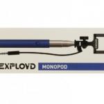 Монопод для селфи Exployd, EX-SF-00091, AUX, цвет: синий