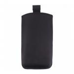 Сумка с язычком (эко кожа) № 7, для Apple iPhone 6/Sam Note 2/S5, черная