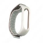 Ремешок для фитнес-браслета XIAOMI Mi Band 4 без бренда, Silicone Nylon loop, цвет: розовый, светлый