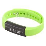 Фитнес трекер Smart Bracelet G115 шаги/расстояние/калории/пульс/сон резиновый браслет (зеленый)